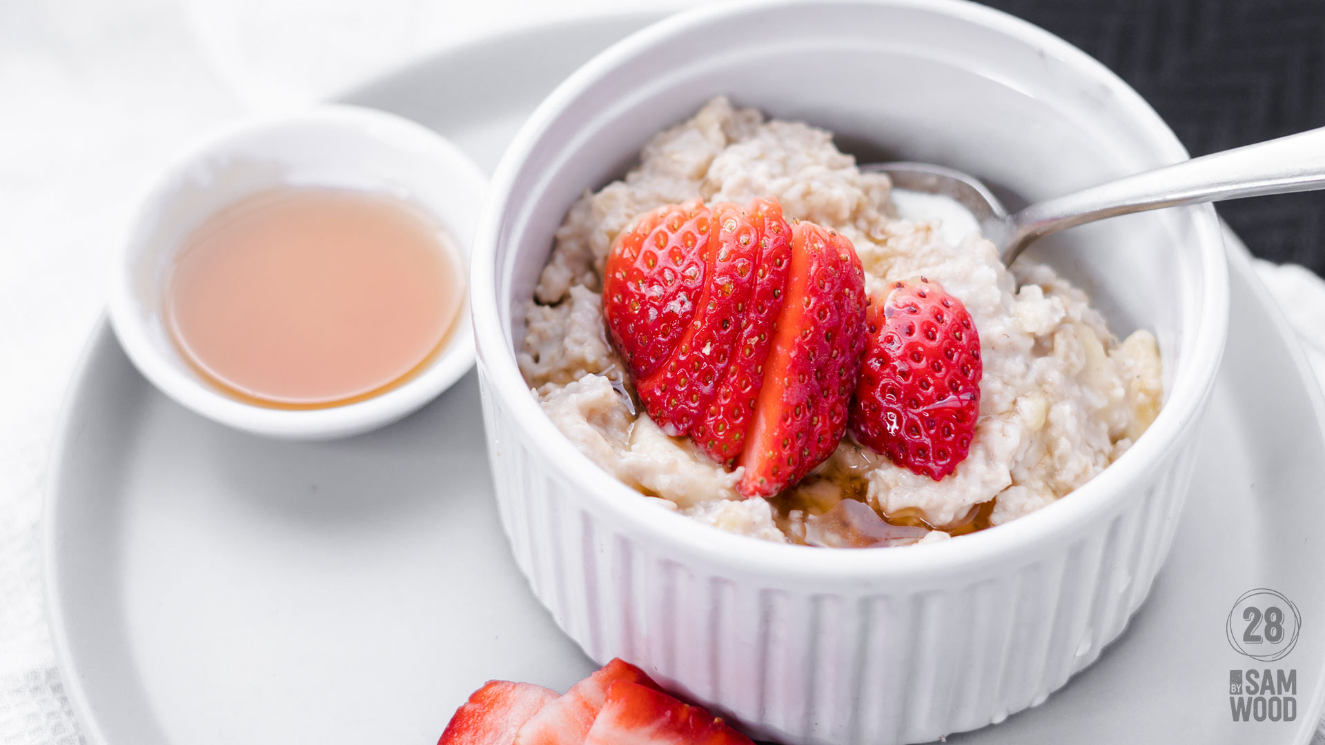 Traditional creamy porridge featured